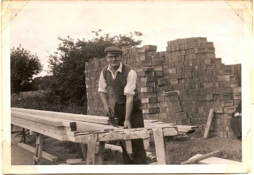 Charlie Laramie and roof timbers